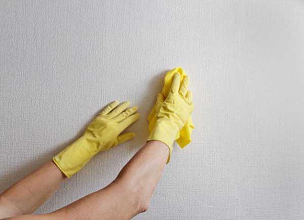 como limpiar bien manchas en la pared