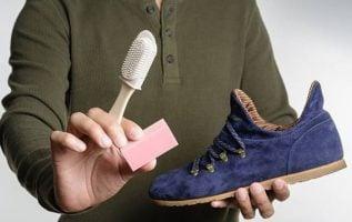como limpiar los zapatos de gamuza
