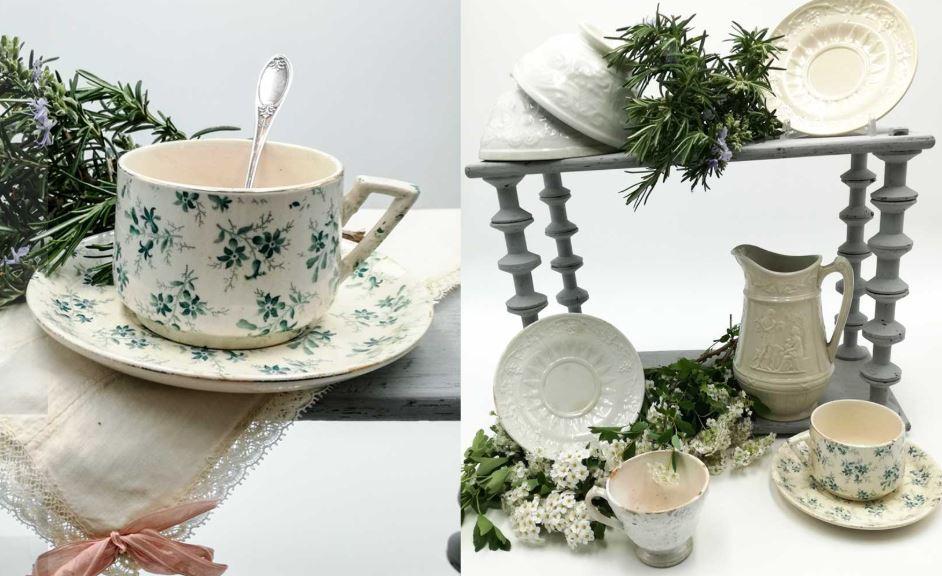 como limpiar tazas y juegos de cafe ceramica