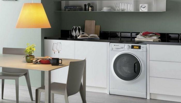 La lavadora-secadora ocupa poco espacio