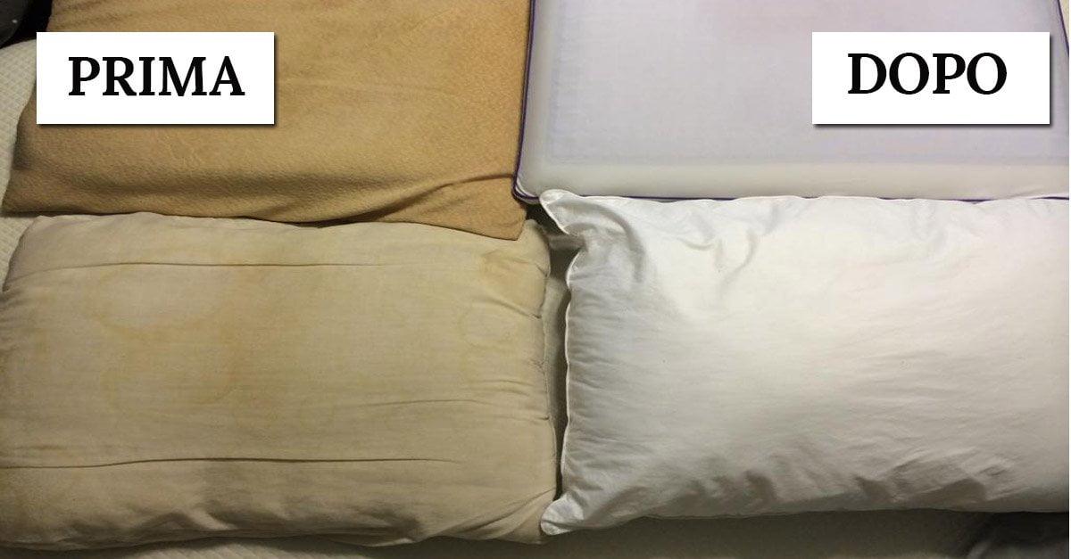 Almohadas amarillentas: así es como hacerlas blancas nuevamente