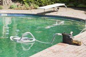 Limpieza de algas de piscina