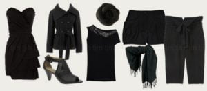 manchas de ropa negra