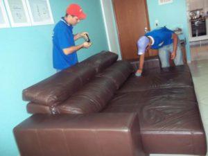 limpieza de sofás de cuero