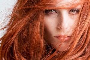 mancha de tinte para el cabello