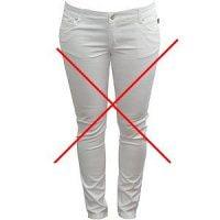 Cómo quitar las manchas de los pantalones blancos