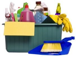 Compra de productos de limpieza