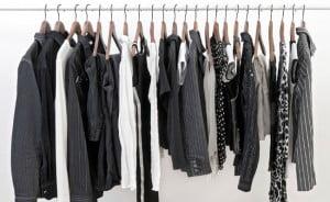 piezas de ropa negra