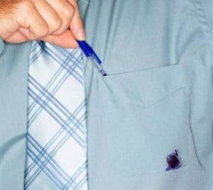 Eliminación de manchas del bolígrafo BIC