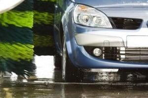 Limpieza de coches en centros comerciales