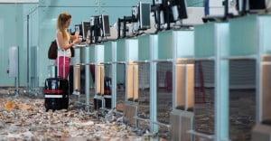 Limpieza del aeropuerto