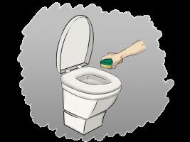 Limpieza del asiento del inodoro