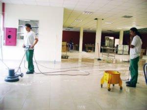 Limpieza despues del trabajo