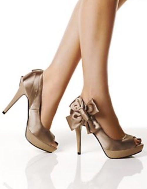zapato de satén